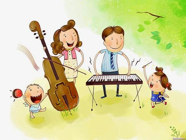 Открытки. С Днем Музыки! Музыкальная семья открытки фото рисунки картинки поздравления