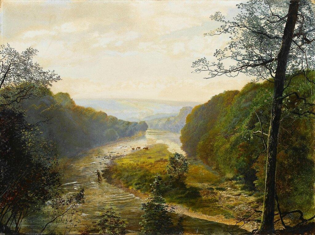 1867_В долине Варфедейл за пределами Барден Тауэр. 38 х 51 см.jpg