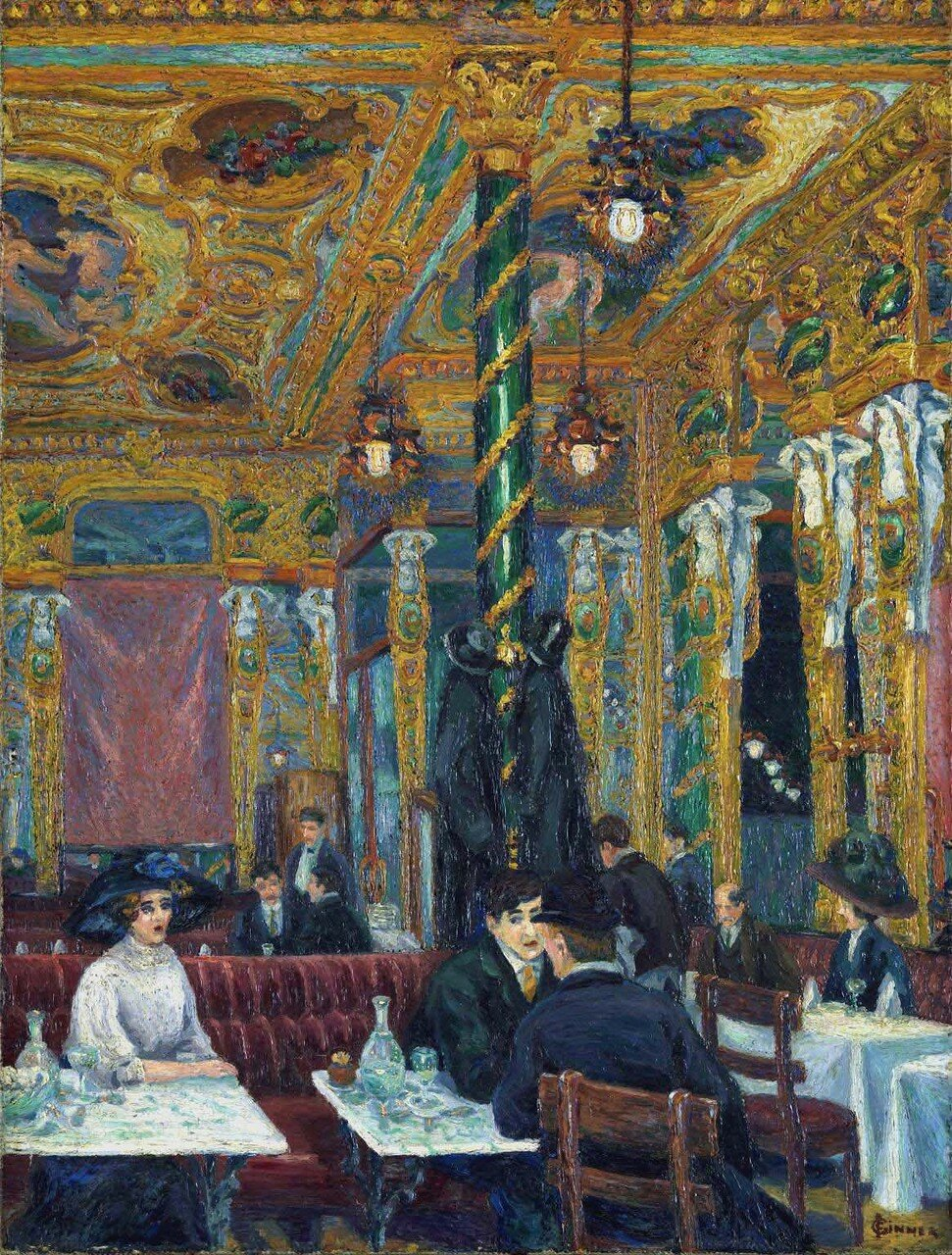 The CafГ© Royal 1911 by Charles Ginner 1878-1952