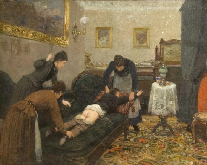 Павел Ковалевский, 1880 год За проделки детей наказывали нещадно. В ход шли кнуты, хлысты, розги, па