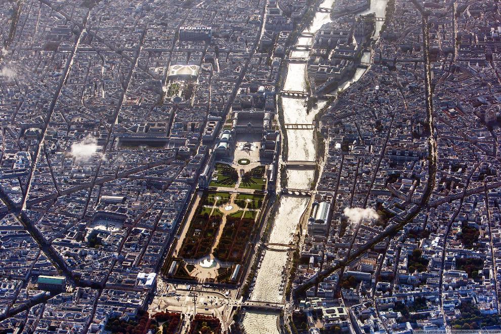 10. Площадь Согласия, Вандомская площадь, сад Тюильри, собор Мадлен.   Кликабельно: