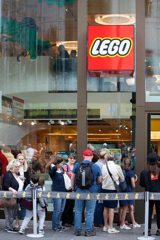 Lego store on Leicester Square in a midday