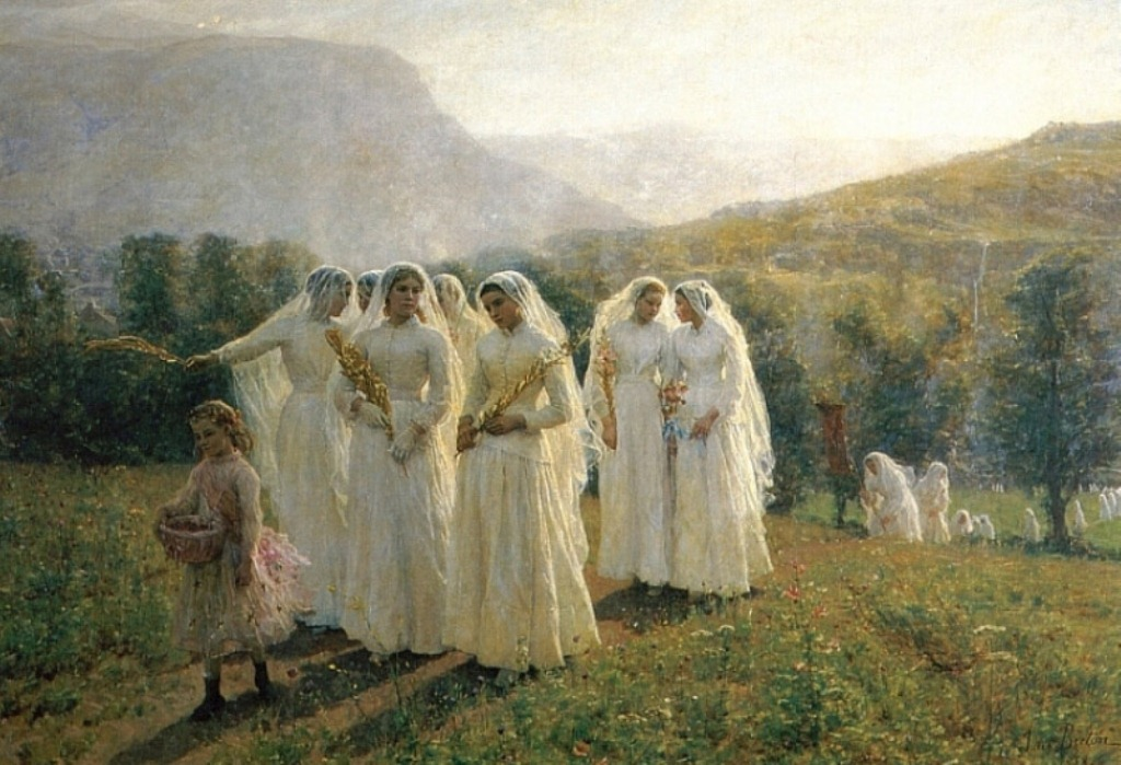 3 Jules-Adolphe Breton      Young Women Going to a Procession.jpg