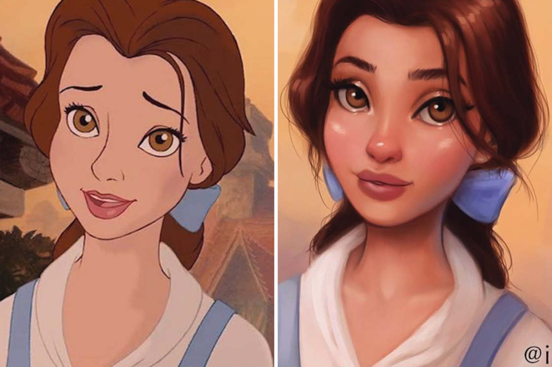 Elle redessine les Princesses Disney