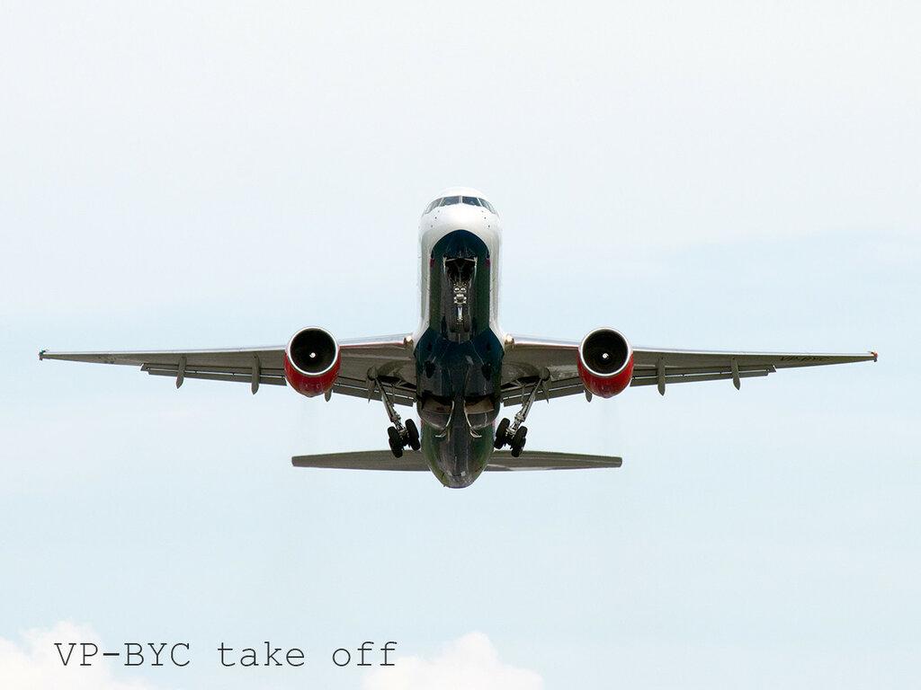 VP-BYC take off