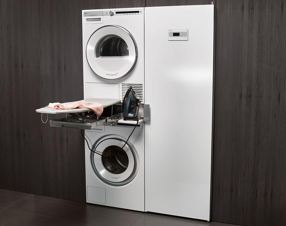 Выдвижная гладильная доска - стиральная и сушильная машина в колоне - купить в Краснодаре