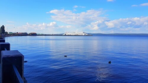 Набережная Онежского озера. Карелия. Петрозаводск
