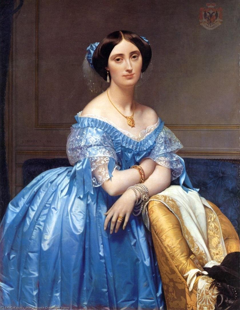 Портрет принцессы де Бройля - (Жан Огюст Доминик Энгр).Jpg