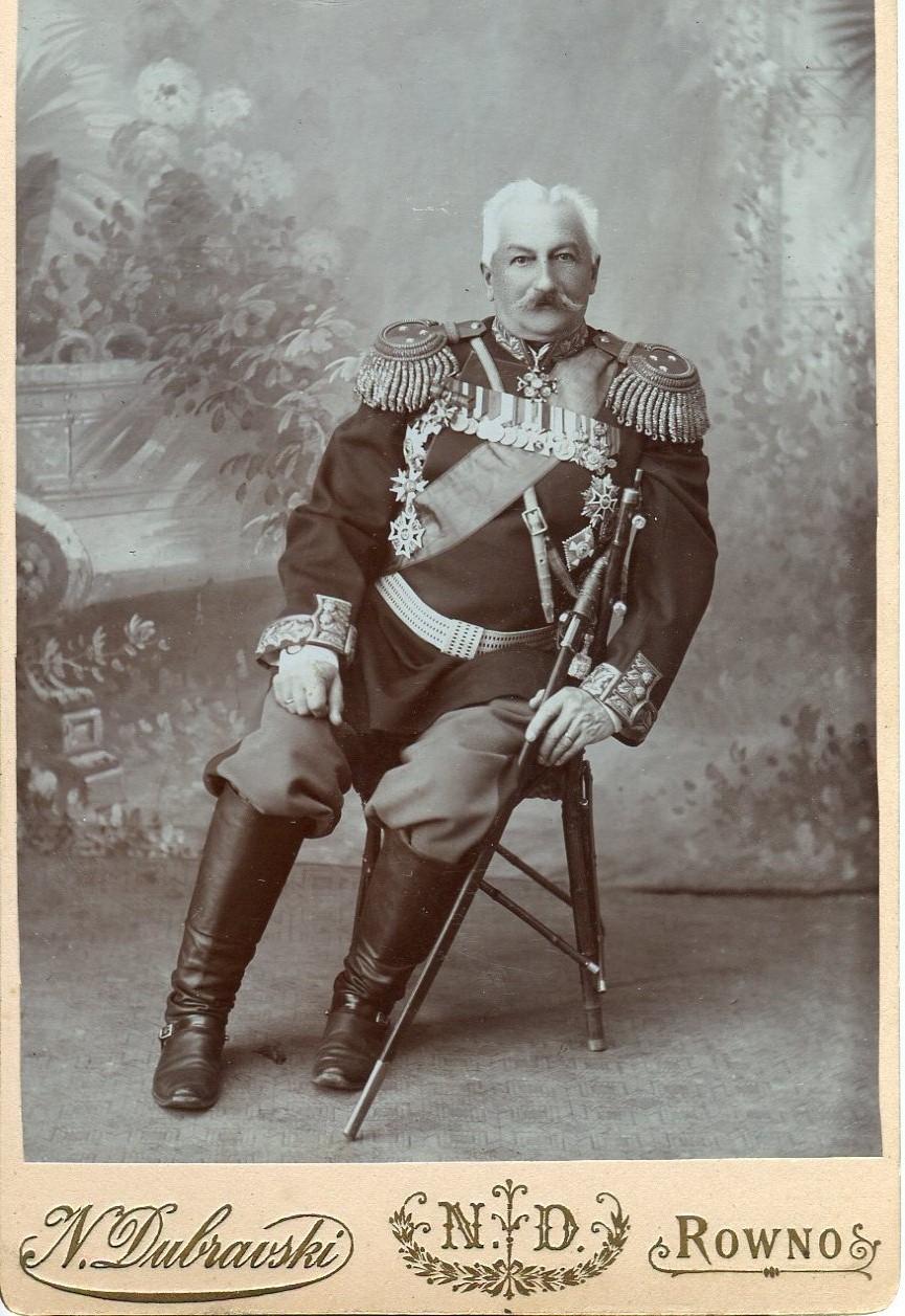 1888. Фотография генерал-майора К.П.Прежбяно. Флигель-адъютант. Генерал от артиллерии.