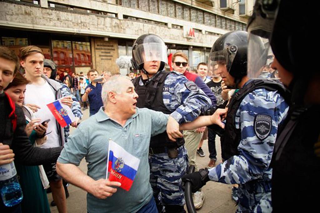Задержание на Тверской 12 июня, 2017,  Фото: Олег Яковлев/РБК