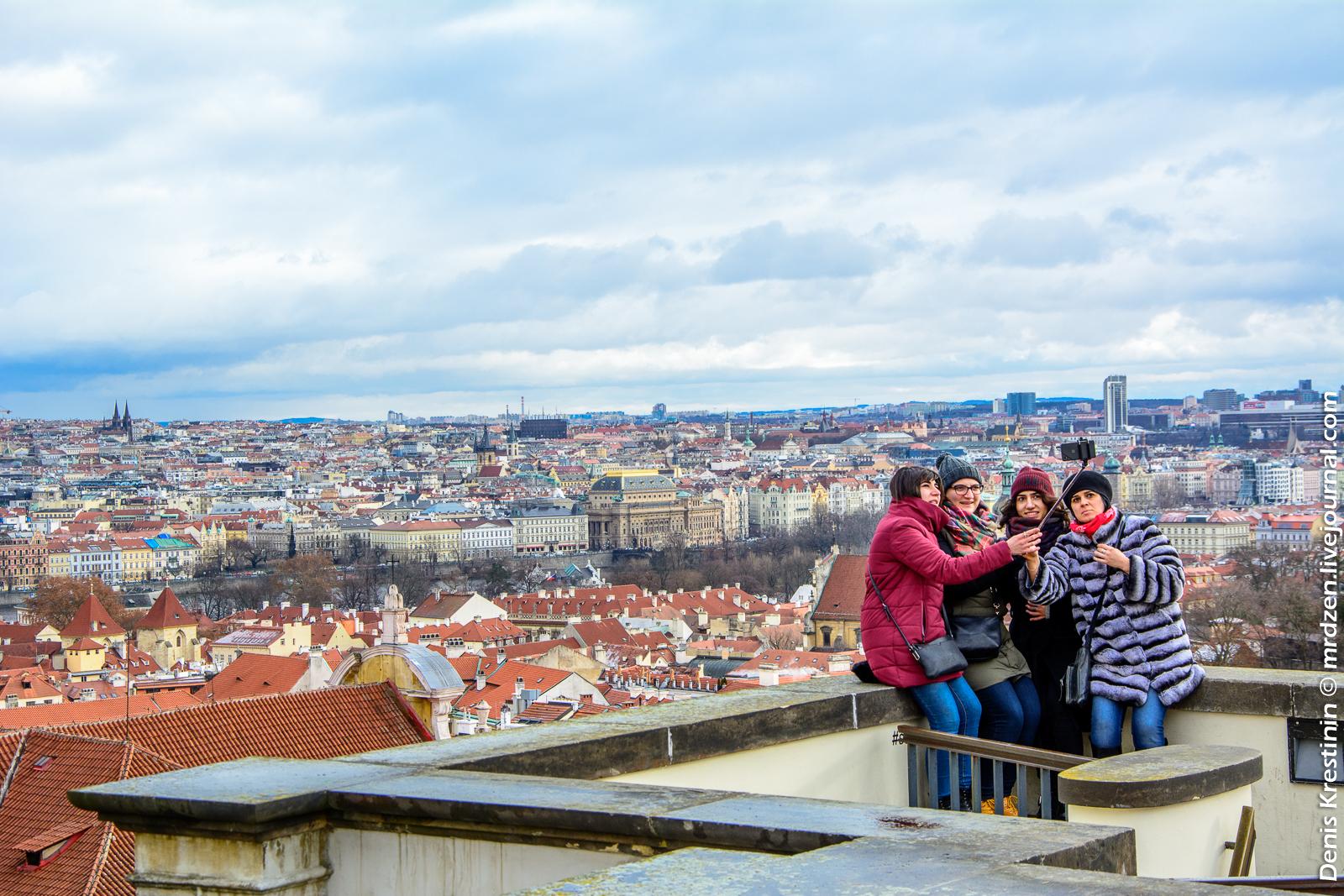 Вид с холмов Пражского Града