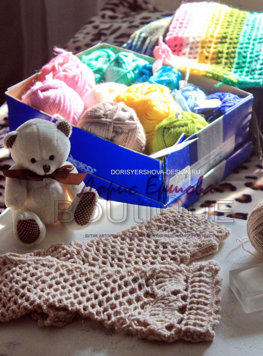 филейное покрывало, митенки, сетка, крючок, Фото, дизайн Дорис Ершовой