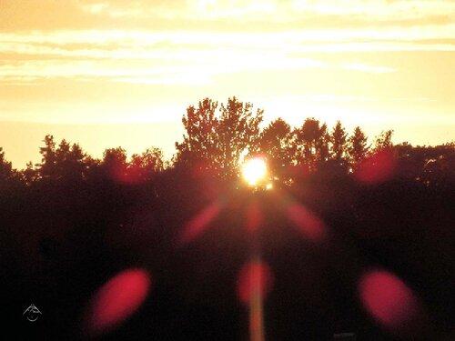 Лучи солнца на закате