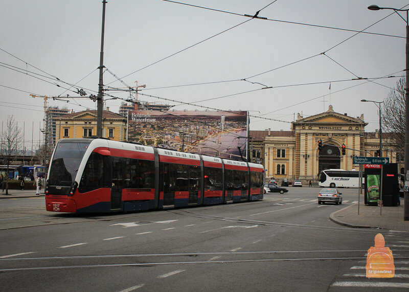 Новый трамвай в Белград