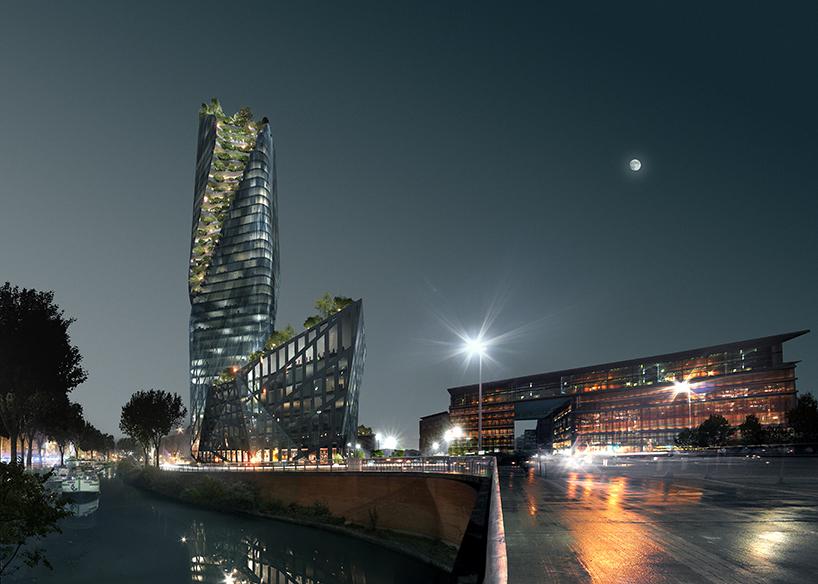 Проект спиральной башни в Тулузе