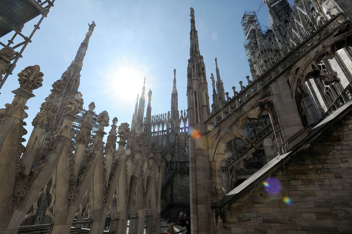 7. Как говорят местные, если ты не был на крыше Дуомо, ты не видел Милан.