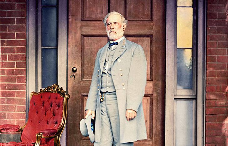 Генерал Роберт Э. Ли спустя неделю после капитуляции генерала Улисса С. Гранта, которая положила кон