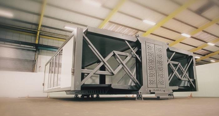 Дом-гармошку можно перевезти в грузовике Мобильный автоматизированный контейнер очень компактный, ле