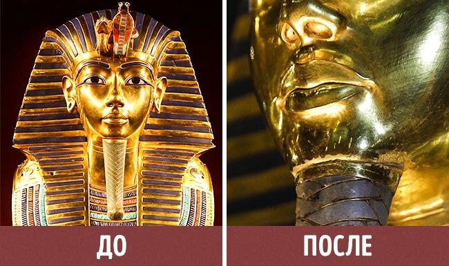 © Sriom/pixabay  © AP/FOTOLINK  В2014 году сотрудница Каирского музея уронила золотую 1