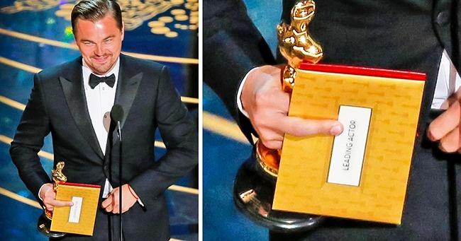 Бонус: Леонардо Ди Каприо наконец получил свой «Оскар», 2016 год. Фотография, конечно, была сделана