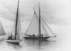 Крейсерские яхты выходят на взморье
