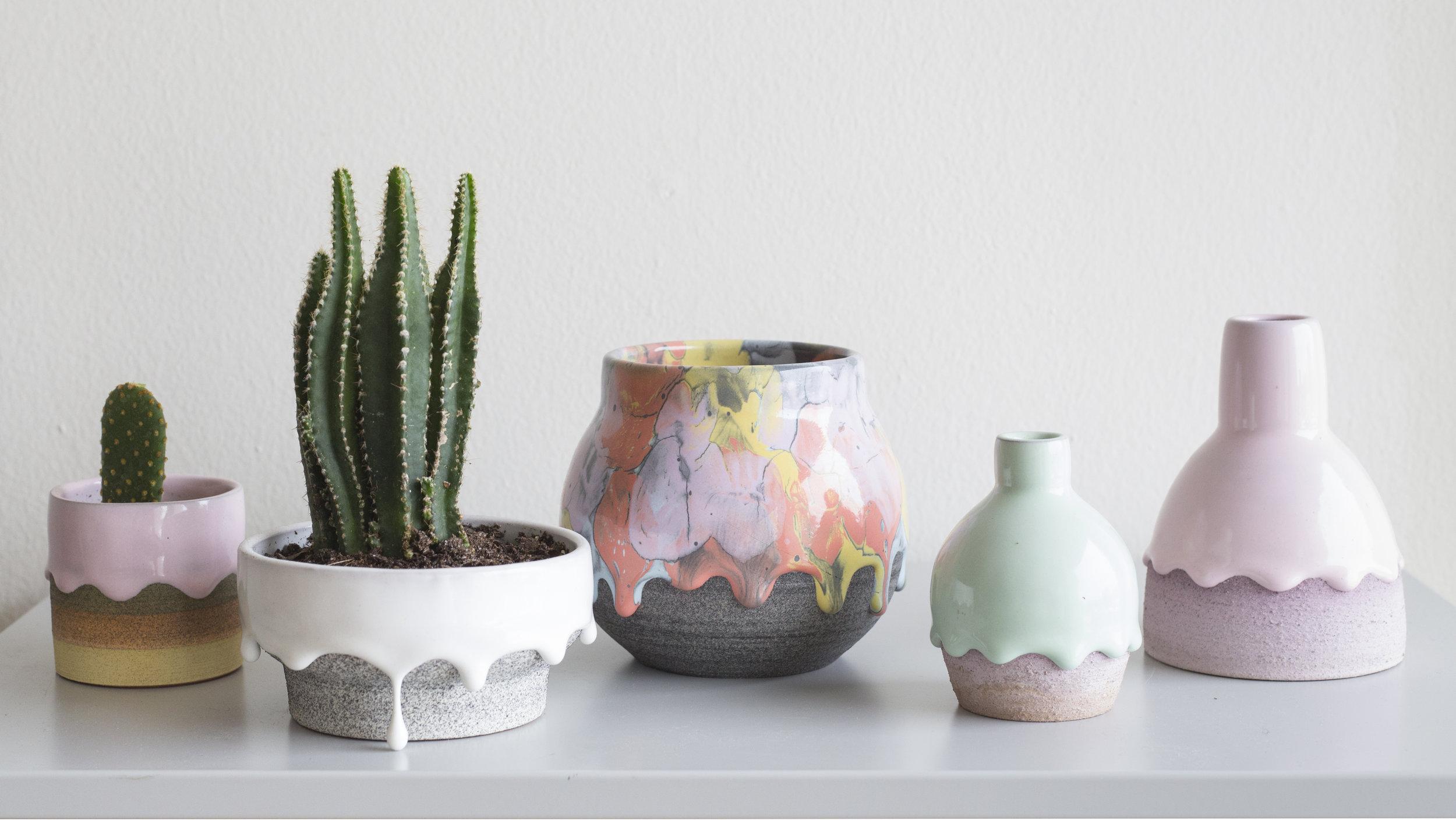 Rainbow Drip Vessels by Brian Giniewski Ceramics (9 pics)