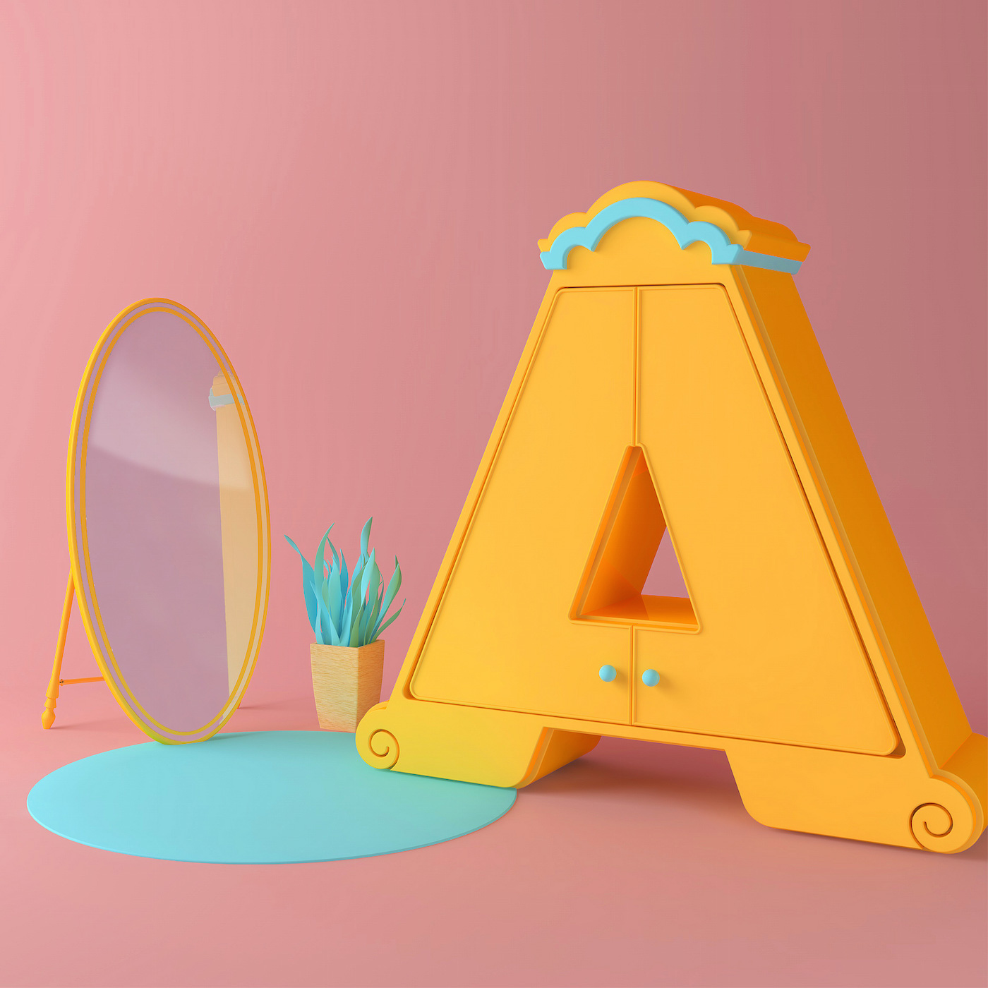 Cute Typography by Tatiana Astua