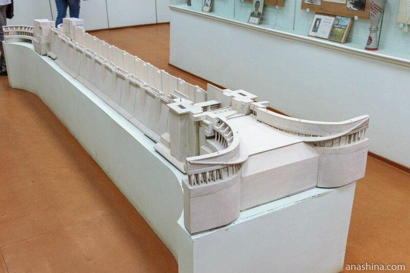 """Макет современного шлюза Волго-Балта, музей """"Водные пути Севера"""", Вытегра"""