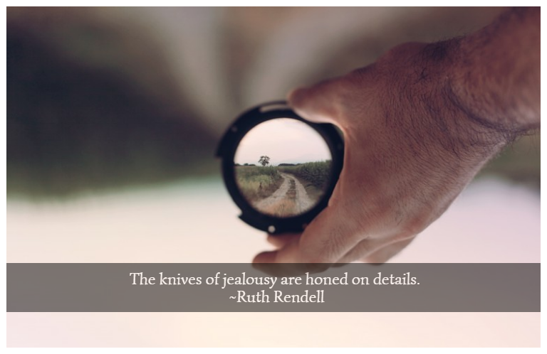 The knives of jealousy are honed on details. ~Ruth Rendell
