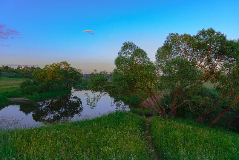 река Каспля, июнь