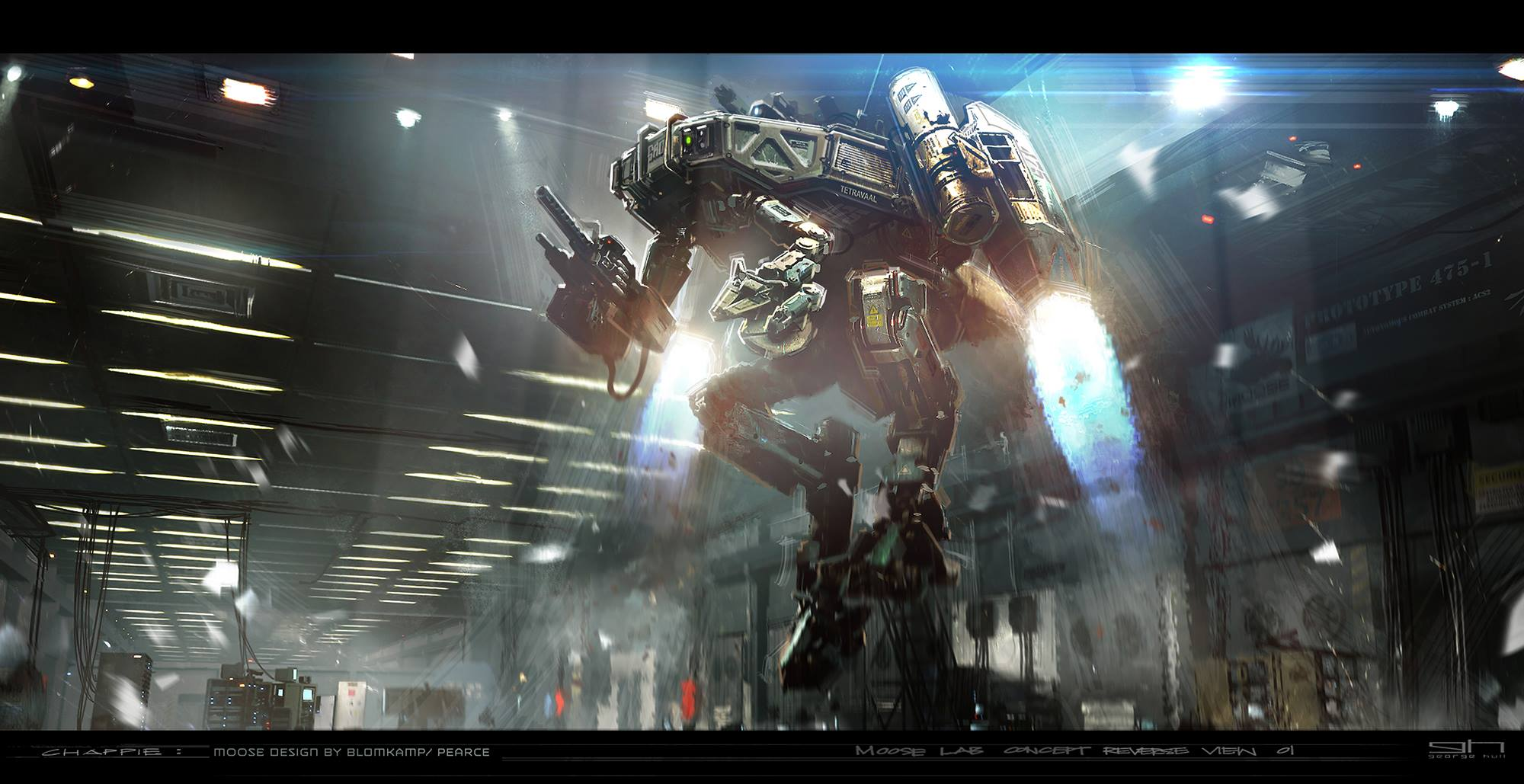 Chappie Concept Art by George Hull (8 pics)