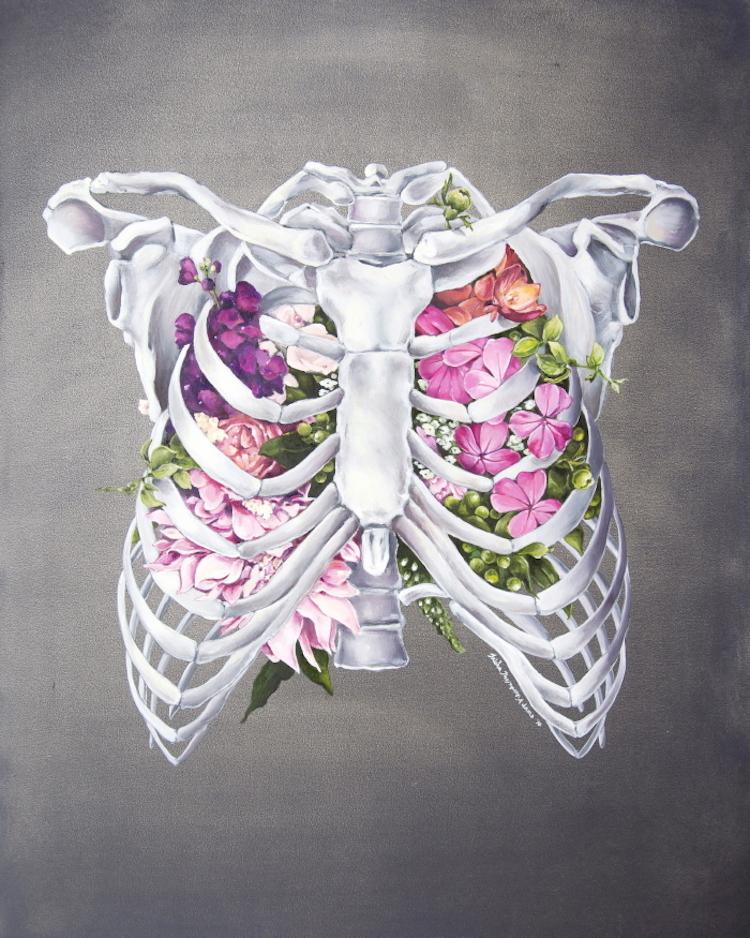Ilustracoes anatomicas entrelacam o corpo humano com a natureza (8 pics)