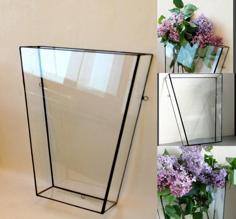 Геометрические стеклянные настенные подвесные флорариумы Тиффани