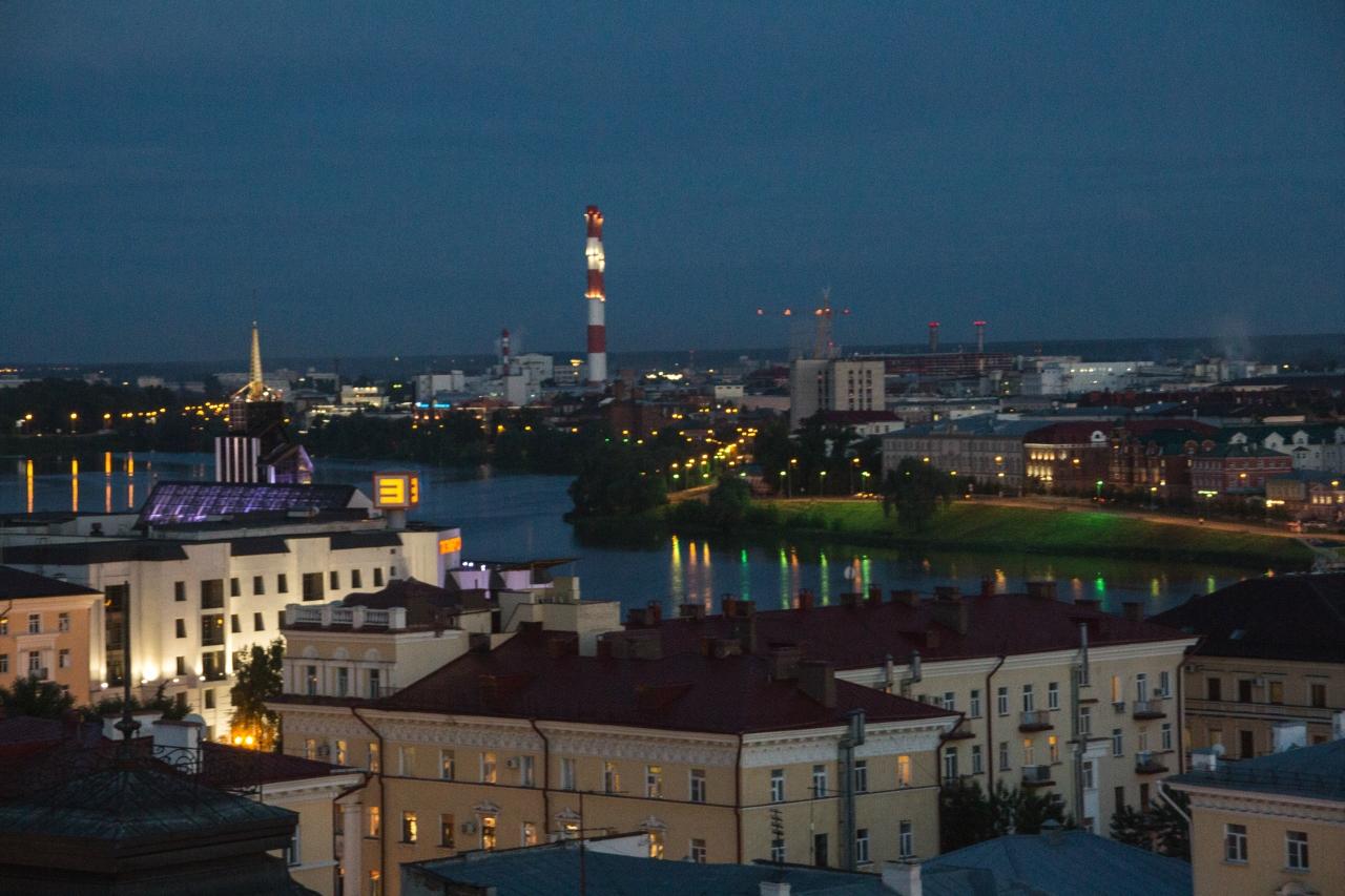 Вечерне-ночная Казань.