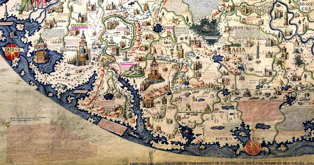 Mappa mundi Фра Мауро.