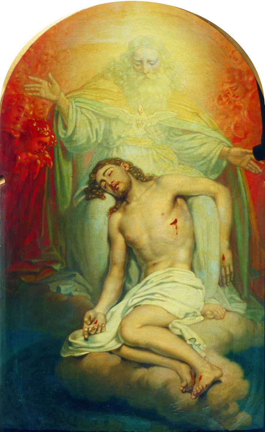 Бог-отец, созерцающий мертвого Христа Государственная Третьяковская галерея, Москва