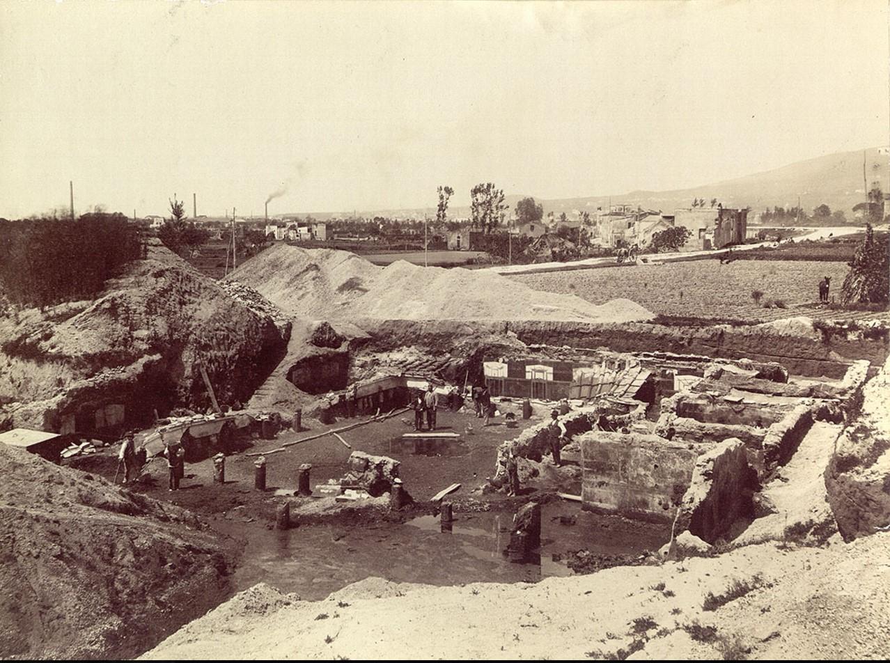 В ходе раскопок загородной виллы