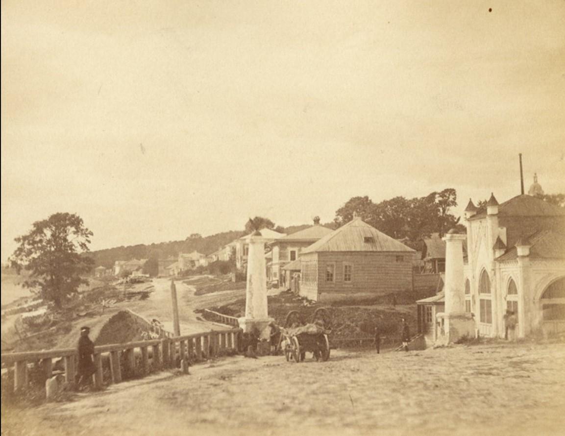 Набережная около моста через Оку со стороны Рязанского спуска. 1900-е
