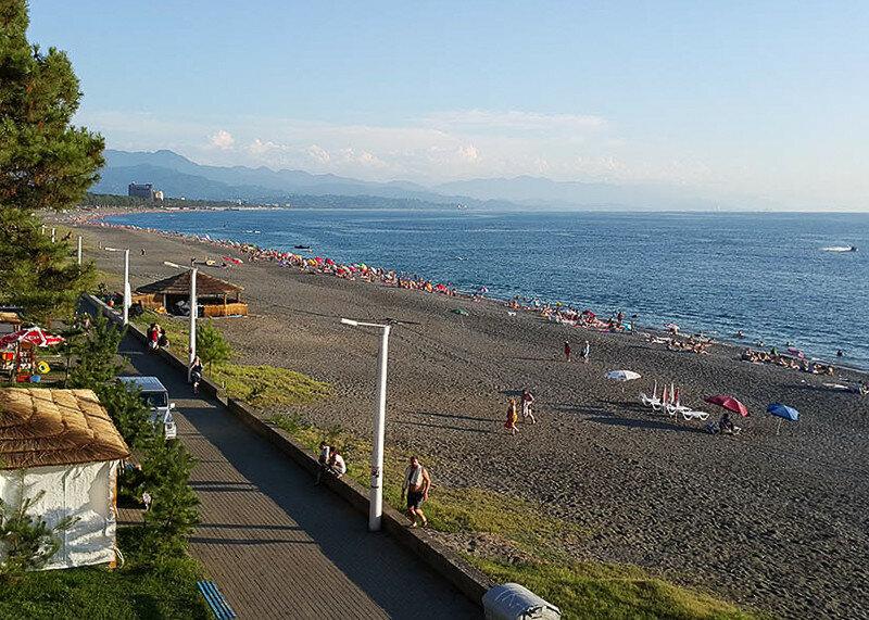 Пляжи всех черноморских курортов Грузии