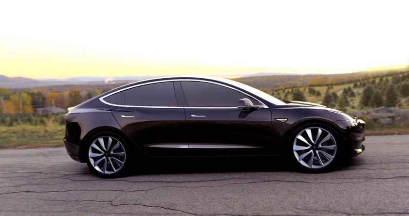 Илон Маск первым прокатился наTesla Model 3