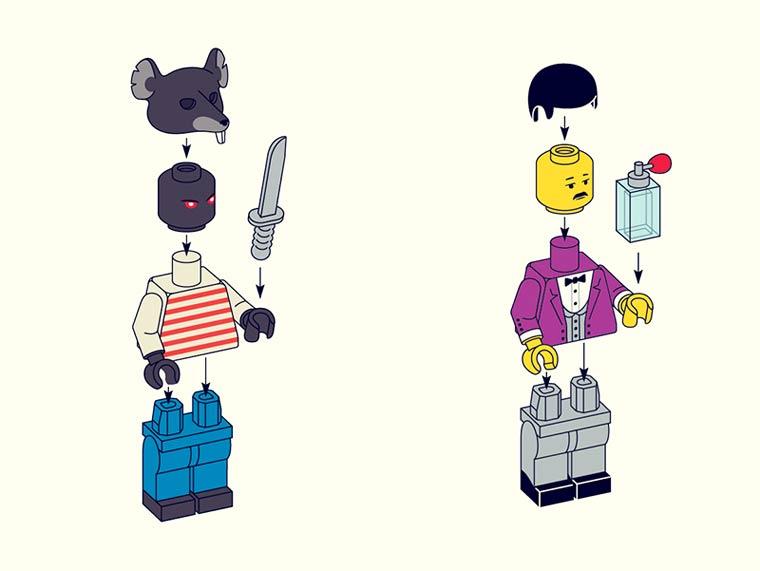 LEGO Wes Anderson - Les personnages cultes de Wes Anderson en Minifigs LEGO
