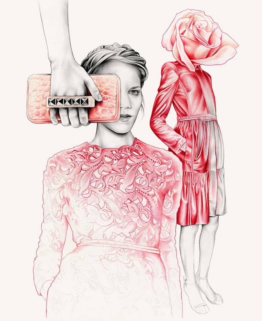 Incredibly Precise Fashion Drawings