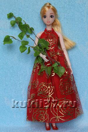 красное платье для Барби