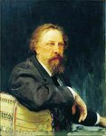 Портрет Алексея Толстого. 1896. Русский художник Илья Ефимович Репин.jpg