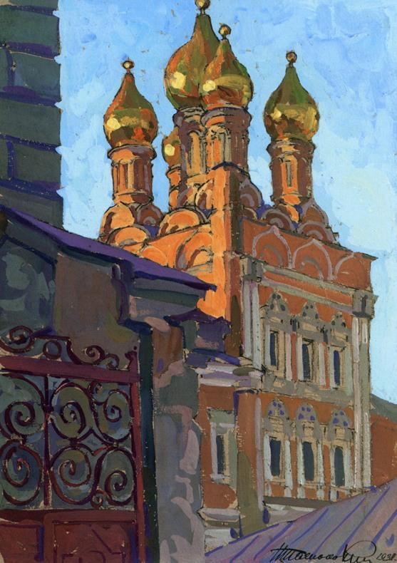 Церковь Николы на Болвановке. 1697-1712 гг. Рисунок 1931 г..jpg