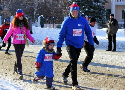 С папой - и марафон в январе пробежать не страшно!