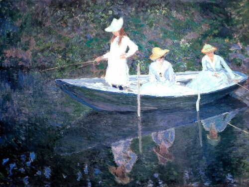 Oscar-Claude Monet; 1840 - 1926 В норвежской лодке. Живерни