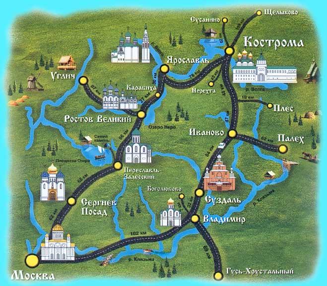 Туристические маршруты Золотого кольца