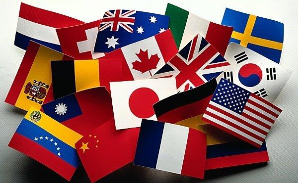 Международный день переводчика. Флаги разных стран