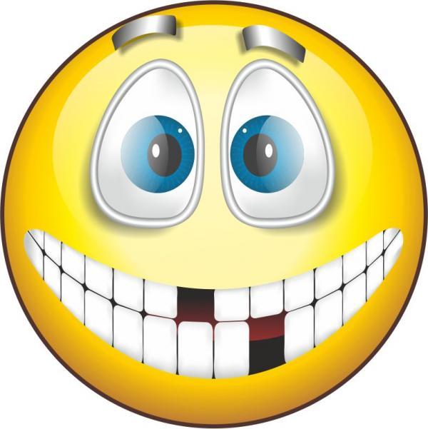 С Днем улыбки! Беззубая улыбка смайлика. С Днем улыбки! открытки фото рисунки картинки поздравления